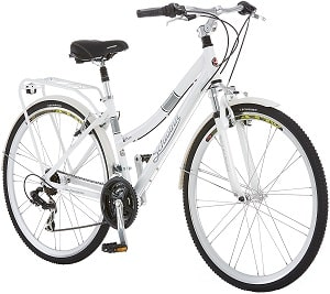 Schwinn Discover Hybrid Bike for Men and Women, 21-Speed, 28-inch Wheels