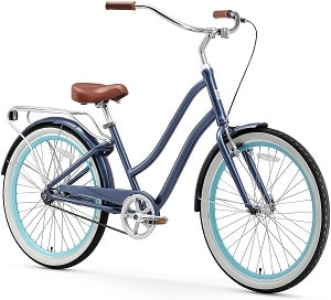 sixthreezero EVRYjourney Women's Step-Through Hybrid Alloy Beach Cruiser Bicycle (24-Inch, 26-Inch, and eBike)