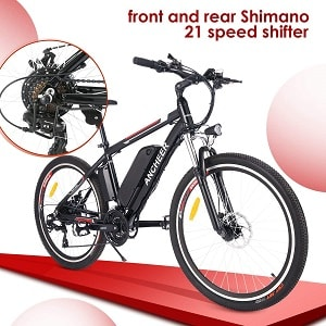 ANCHEER 500W 250W Electric Bike Adult Electric Mountain Bike 26 Electric Bicycle 20Mph with Removable